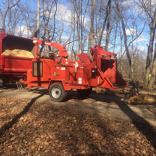 arbor care solutions tree service mulch truck